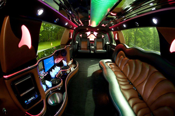 Interior of Limo Rental Service