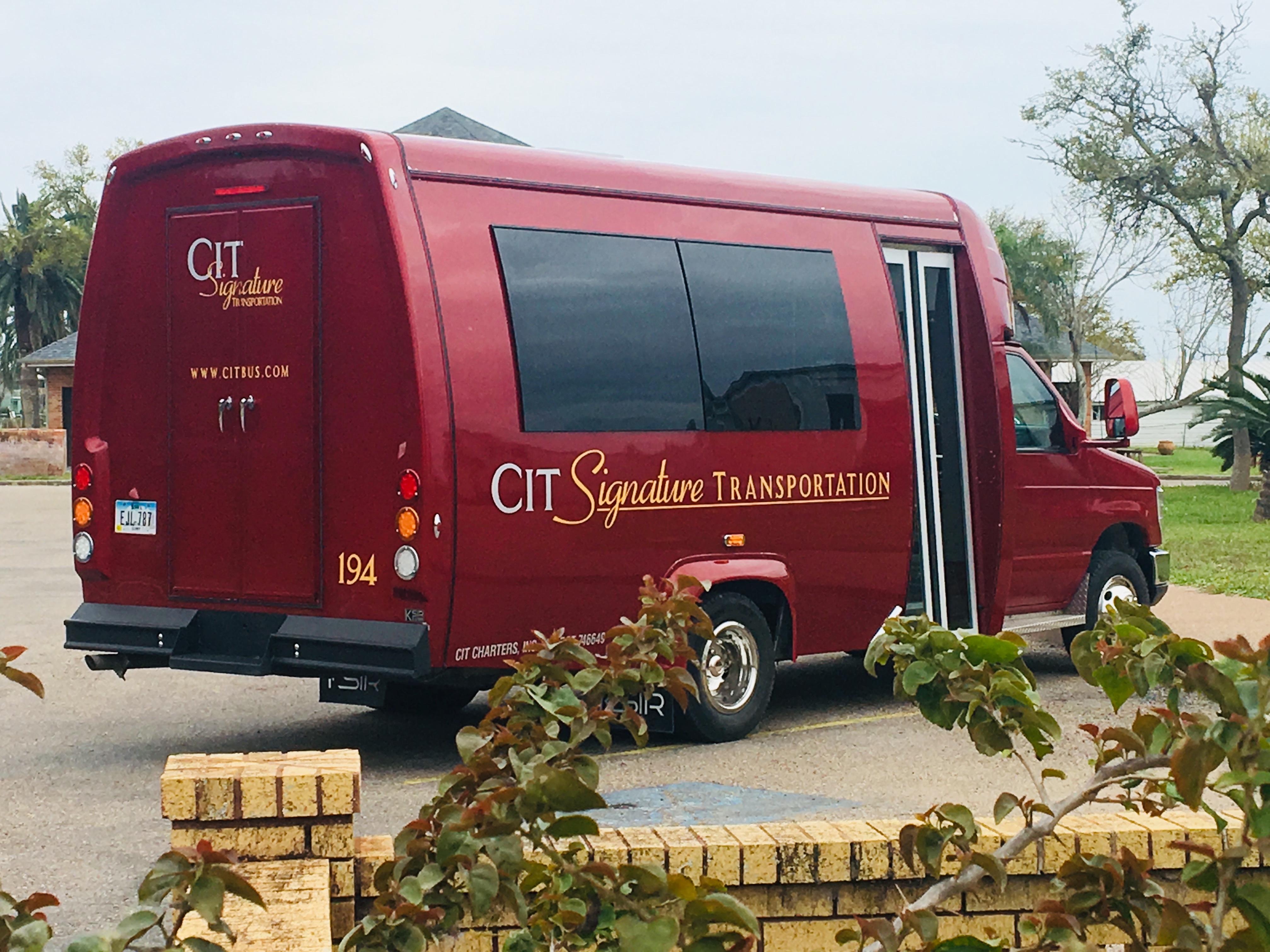 Back of a 14 Passenger Minibus in Des Moines, Iowa